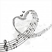 image of musical note  - music from heart - JPG