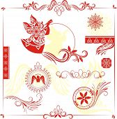 christmas design elements
