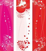 St.Valentine's day banners set