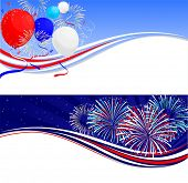 Fourth of July celebration banners
