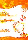 autumn set of design elements, banners,frames, border