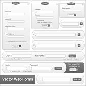 Gray Web Forms Template