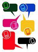 Smartphones Dialog Bubbles in vectors