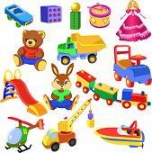 Satz von Spielzeug