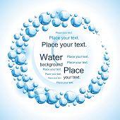 Water frame. Vector illustration.
