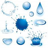 Collection of water. Vector illustration.