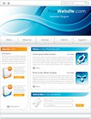 An original blue website template for any company