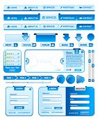 Big collection of blue web design elements 2