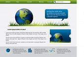 Web site design template with Earth Globe