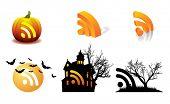 Halloween Pumpkin vector RSS - October