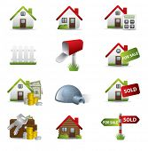 stock photo of real-estate agent  - Real Estate Business Icon Set - JPG
