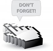 Do not forget reminder mouse cursor