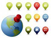 Signos e iconos GPS