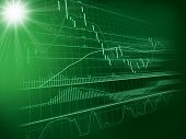 background with forex chart