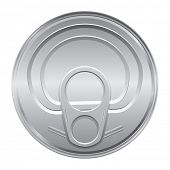 Silver color cover from soda cans. Vector.