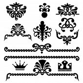 Set of vector gothic design elements