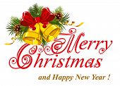 foto of merry christmas text  - Christmas greetings card - JPG