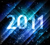 2011 new year background in blue shades