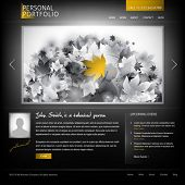 black stylish website template for personal portfolio - perfect layout for photographers and designe