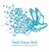 Постер, плакат: летящей птицы мира абстракции