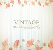Vektor Vintage Background with Blumen