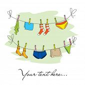 Baby clothesline banner