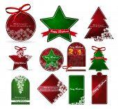 christmas price tags. vector