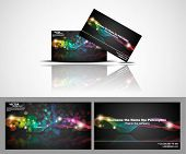 business card With abstract vector background