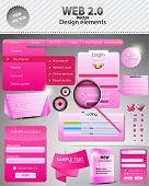 Pink Set: forms and design element for web. Vector