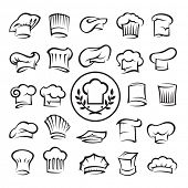 picture of chef cap  - set of chef hats - JPG