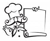 chef with menu