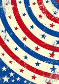 Fundo grunge patriótica. Um abstrato patriótico