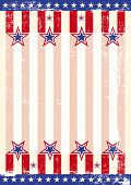 Um fundo de grunge com uma bandeira americana para um cartaz. Leia a sua mensagem