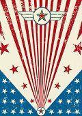 Cartaz patriótico de zero. Um novo fundo patriótico para um cartaz.