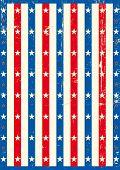 Cartaz americano de estrelas. Um fundo american vintage para você.