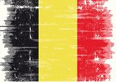 Belgian grunge flag. A belgian flag with a texture