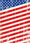 Dirty flag of united states of America. An american flag for a patriotic poster