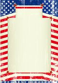 pic of patriot  - USA background A patriotic background with a frame for your message - JPG