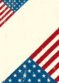 Grunge US letter. A grunge poster with a US flag for your advertising