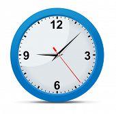 Vector office clock.