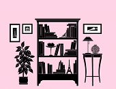 Home decoration, bookshelf