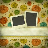 pic of memento  - Vintage Scrapbook Background with Photo and Text Plates - JPG