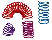 colorful 3d springs