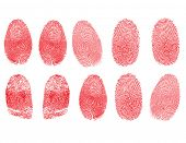 Set of fingerprints