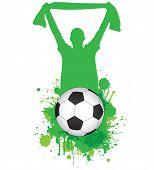 Raster football abstract