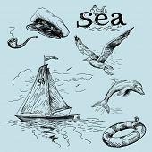 rabiscos de mar
