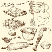 picture of kitchen utensils  - kitchenware - JPG