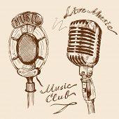 microphone doodles
