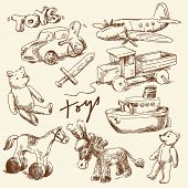 image of buggy  - hand drawn toys for boys - JPG
