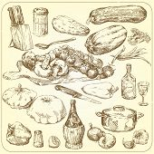 pic of hand drawn  - food collection  - JPG